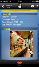 גלריית תמונות של מקום בילוי באפליקציית heys